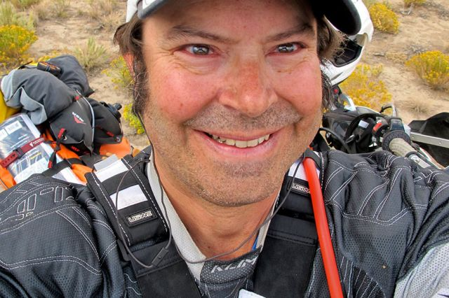 Harold Cecil - selfie from ADVMoto profile article