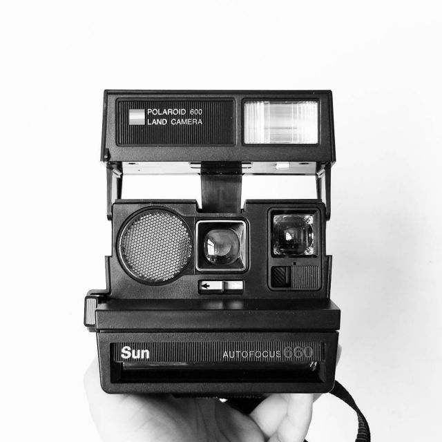 Polaroid Sun 660 camera. Urban outfitters: $160, thrift store: $3