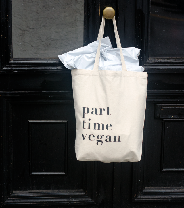 Part Time Vegan Tote Bag