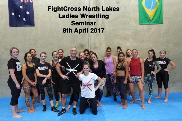 Women's wrestling seminar in Brisbane