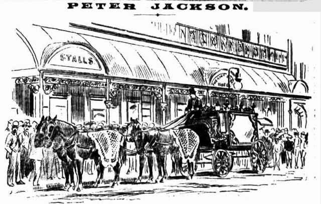 Peter Jackson's funeral procession