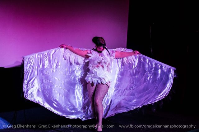 Lenore Noire as The Ibis. Greg Elkenhans Photography for Curves and Claws.