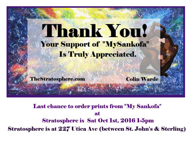 My Sankofa thank you