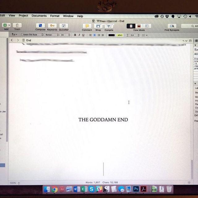 Finished novel draft!