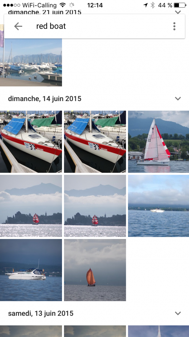 Google Photos - Red boat