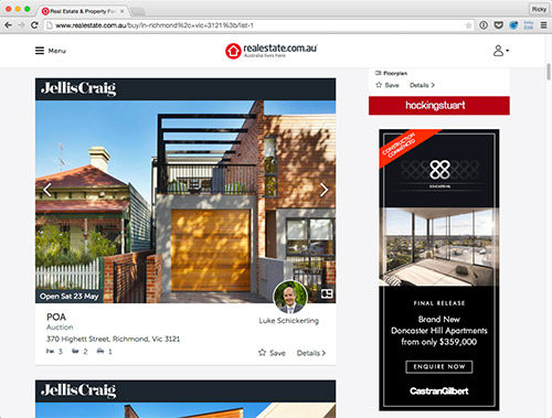 realestate.com.au search results page