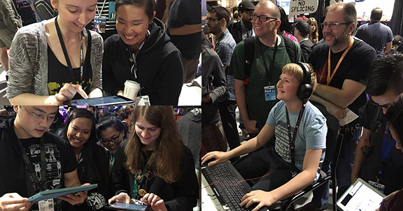 People playing WoL at PAX