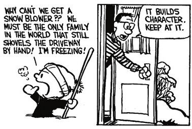 Calvin and Hobbes - building character