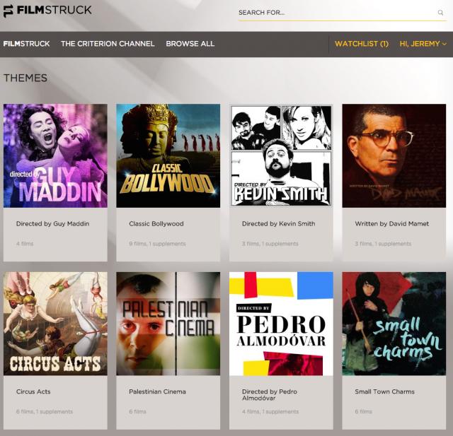 Filmstruck Website