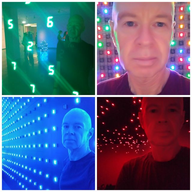 Selfies at Tatsuo Miyajima Connect With Everything exhibition MCA Sydney