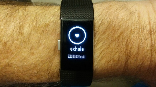 Breathing aware Fitbit watch