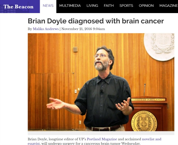 Brian Doyle diagnosed with brain cancer