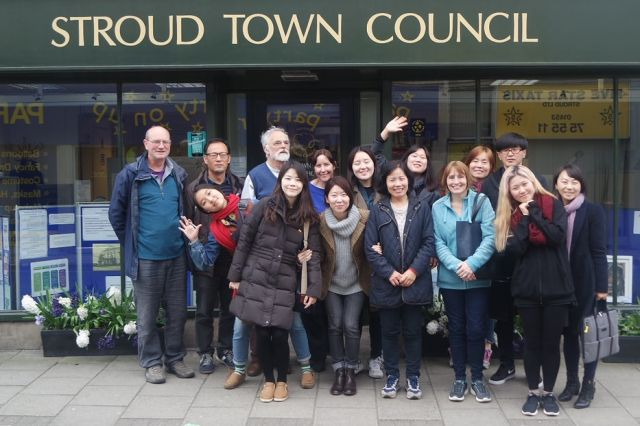 South Koreans visit Stroud