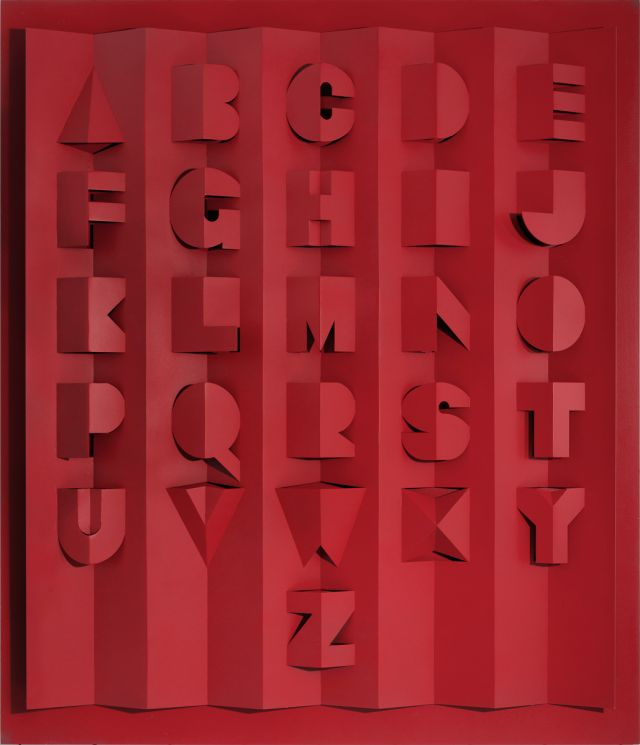 Ron King - Large Red Metal Alphabet