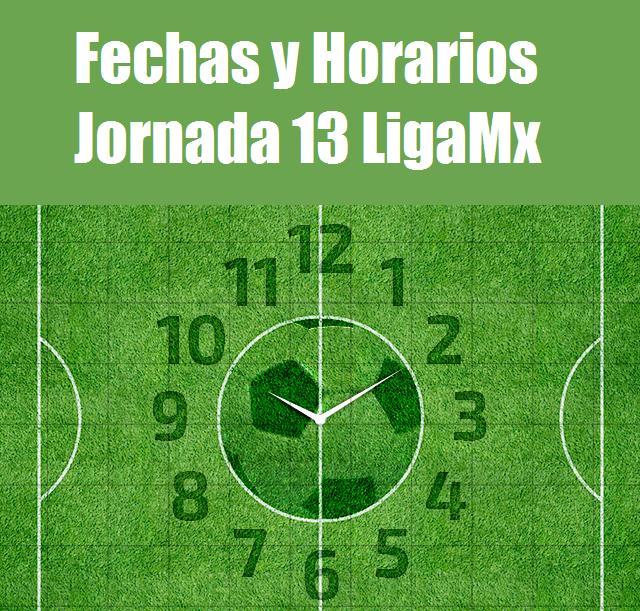 Calendario jornada 13 futbol mexicano