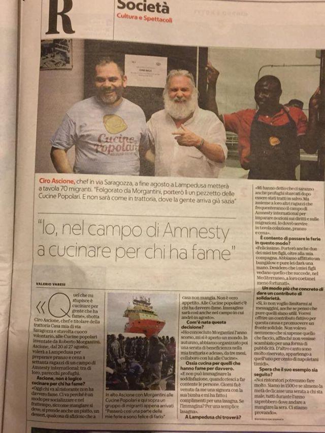 Ciro Ascione e Amnesty su repubblica