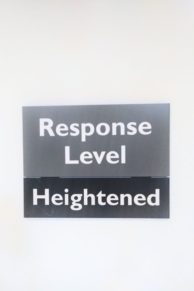Test image: RESPONSE LEVEL HEIGHTENED