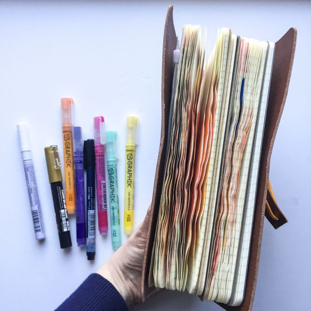 inkDori Bullet Journal Pages | watercolor bullet journaling examples | Grace & Salt ink