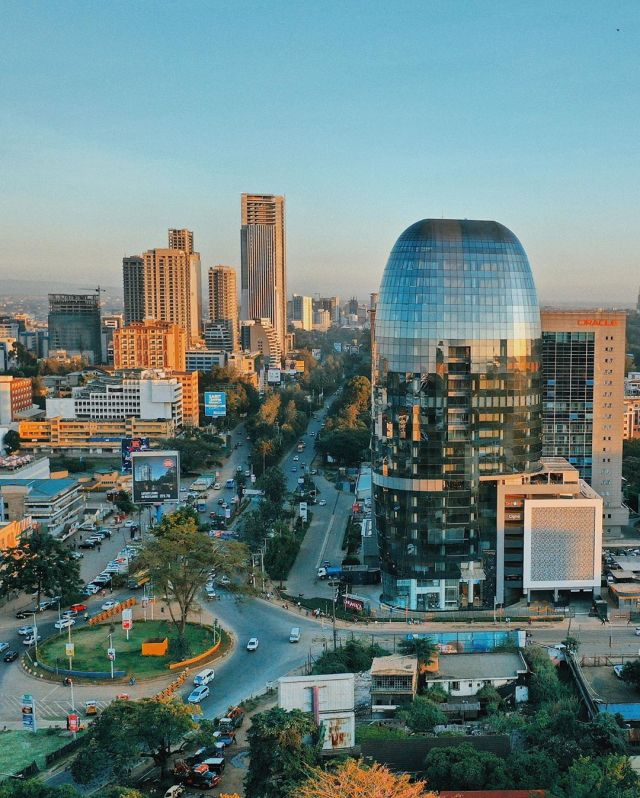 A photo of a gleaming new building in Nairobi
