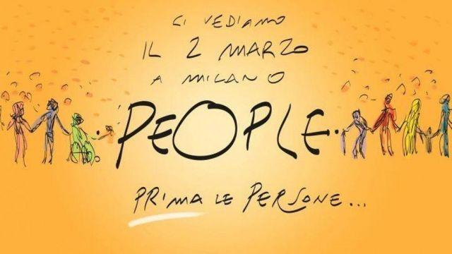 People, manifestazione a Milano, 2 marzo