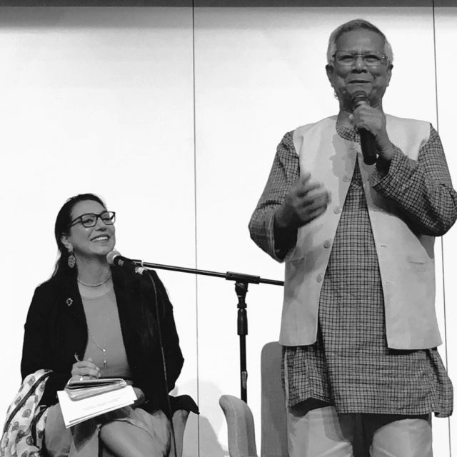 Mohammad Yunus al Centro Ikeda
