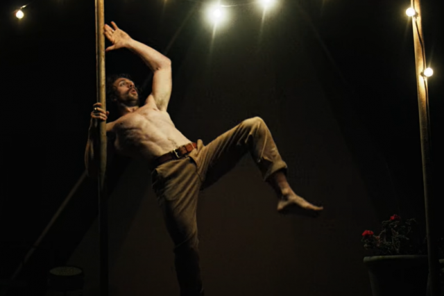 A still from the video of Black Rain, Copyright Loma Vista Recordings.