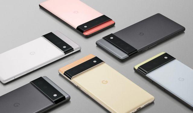 Google Pixel 6 in various colors