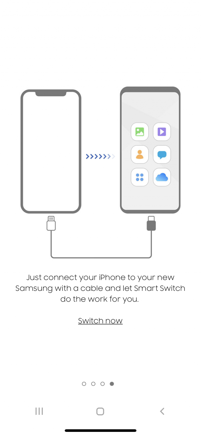 Smart Switch app illustrating how easy it is to switch to Samsung