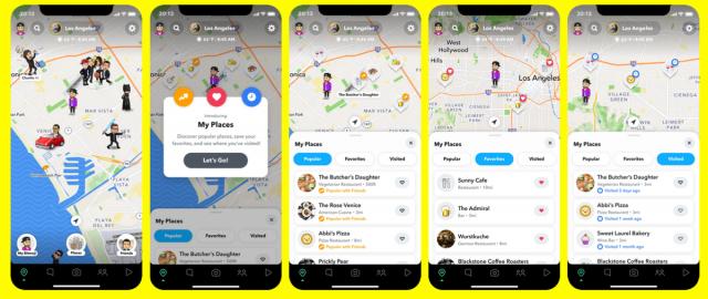 Snap Maps screenshot from Snapchat