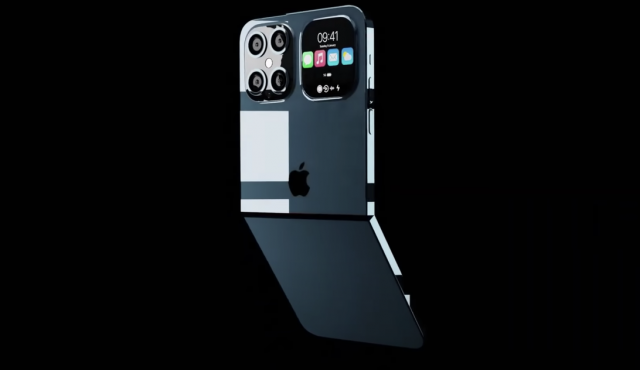 Concept art for a foldable iPhone