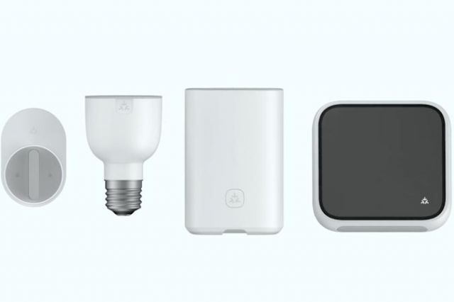 A collection of connected devices with the Matter icon on them